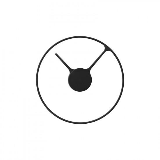 Stelton Time wall clock, Ø 30 cm - large - black